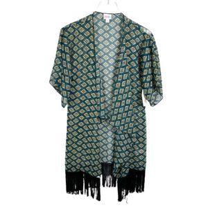Lularoe Monroe Open Front Kimono Cardigan Size S